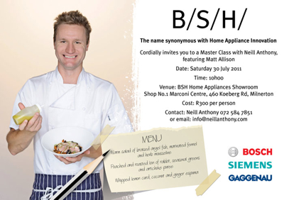 Join us for a Masterclass at the B/S/H showroom