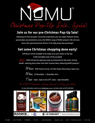 NOMU's Pre Christmas Pop-Up Sale, Again!
