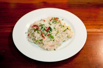 Recipe # 27 – Cheesy courgette and mint risotto