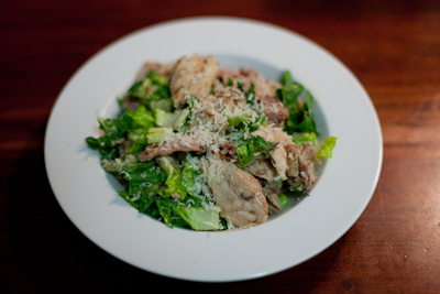 Recipe #38 - Chicken Caesar salad