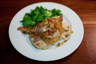 Recipe 21 Parmesan Crusted Plaice Salad Im No Jamie Oliver