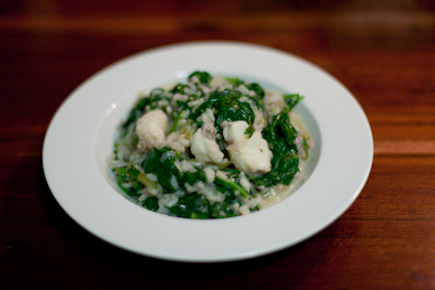 Recipe #43 - Monkfish and spinach risotto