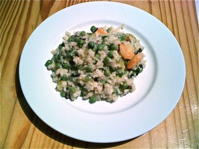 Recipe #41 - Pea & prawn risotto