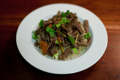 Recipe #9 – Spicy beef stir-fry with eggy rice