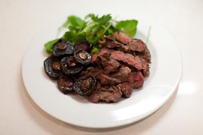 Recipe #44 - Steak and balsamic-glazed mushrooms