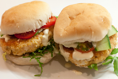I M No Jamie Oliver Blog Archive Spicy Crispy Chicken Burgers With Aioli
