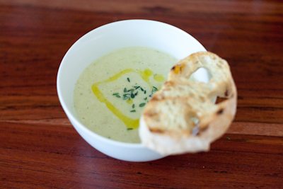 Recipe # 28 – Leek and potato soup with taleggio