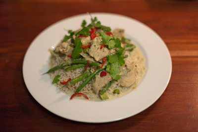 Recipe # 29 – Thai green curry with coconut rice